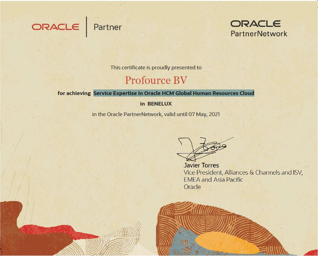 Profource Service Expertise in Oracle HCM Global Human Resources Cloud